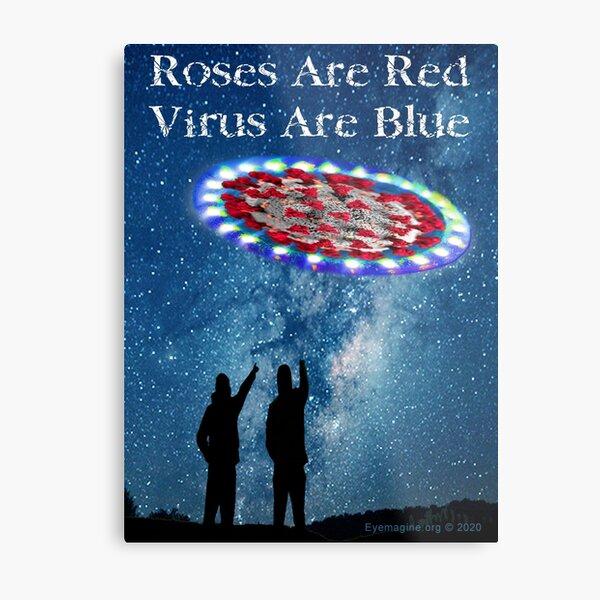 Virus Are Blue Metal Print