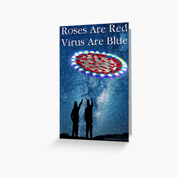 Virus Are Blue Greeting Card