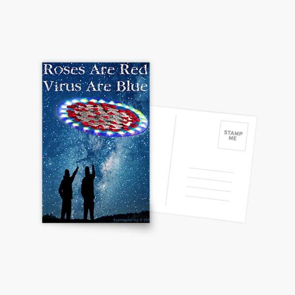 Virus Are Blue Postcard