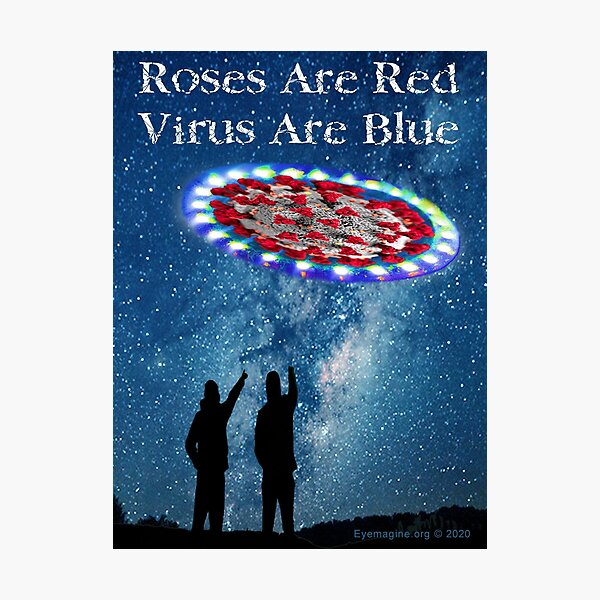 Virus Are Blue Photographic Print