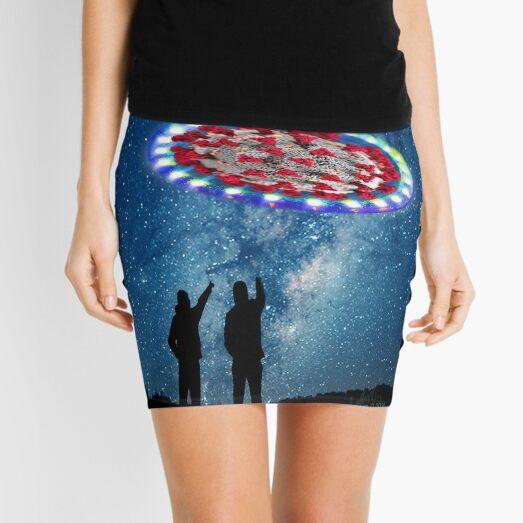 Virus Are Blue Mini Skirt
