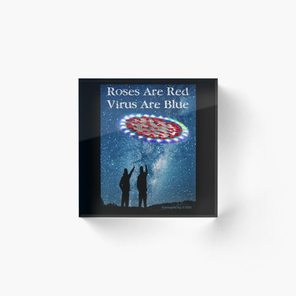 Virus Are Blue Acrylic Block