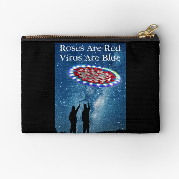 Virus Are Blue Zipper Pouch