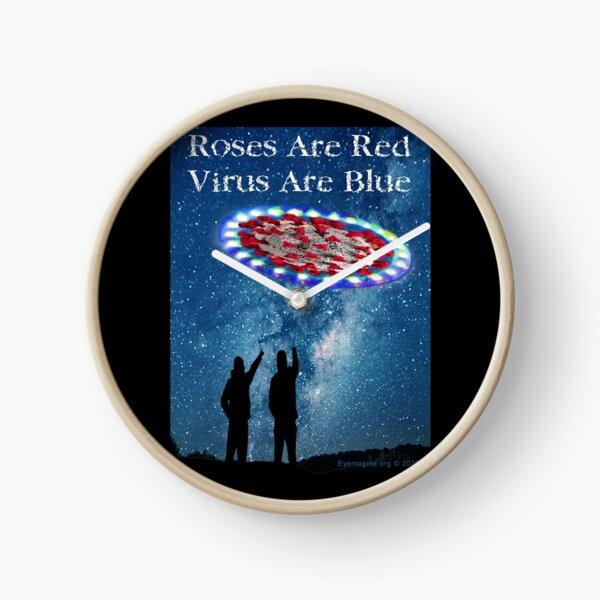 Virus Are Blue Clock
