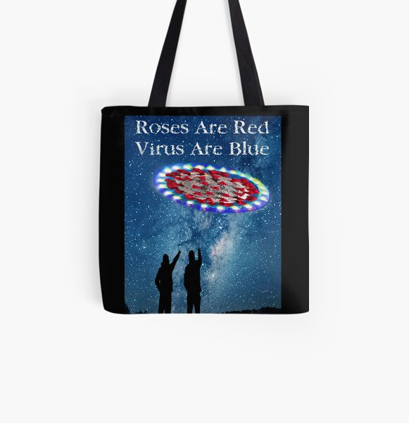 Virus Are Blue All Over Print Tote Bag