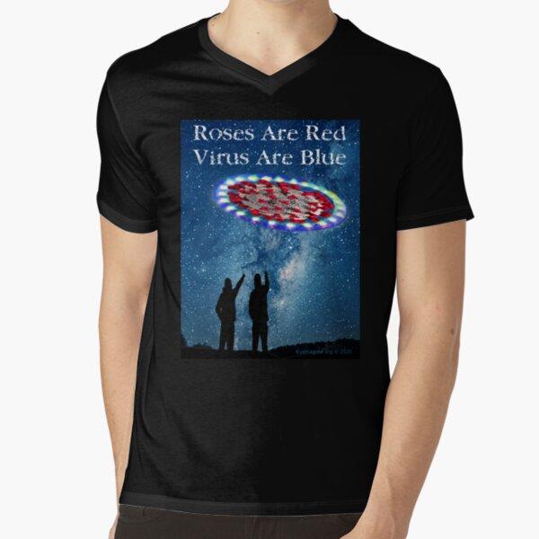 Virus Are Blue V-Neck T-Shirt