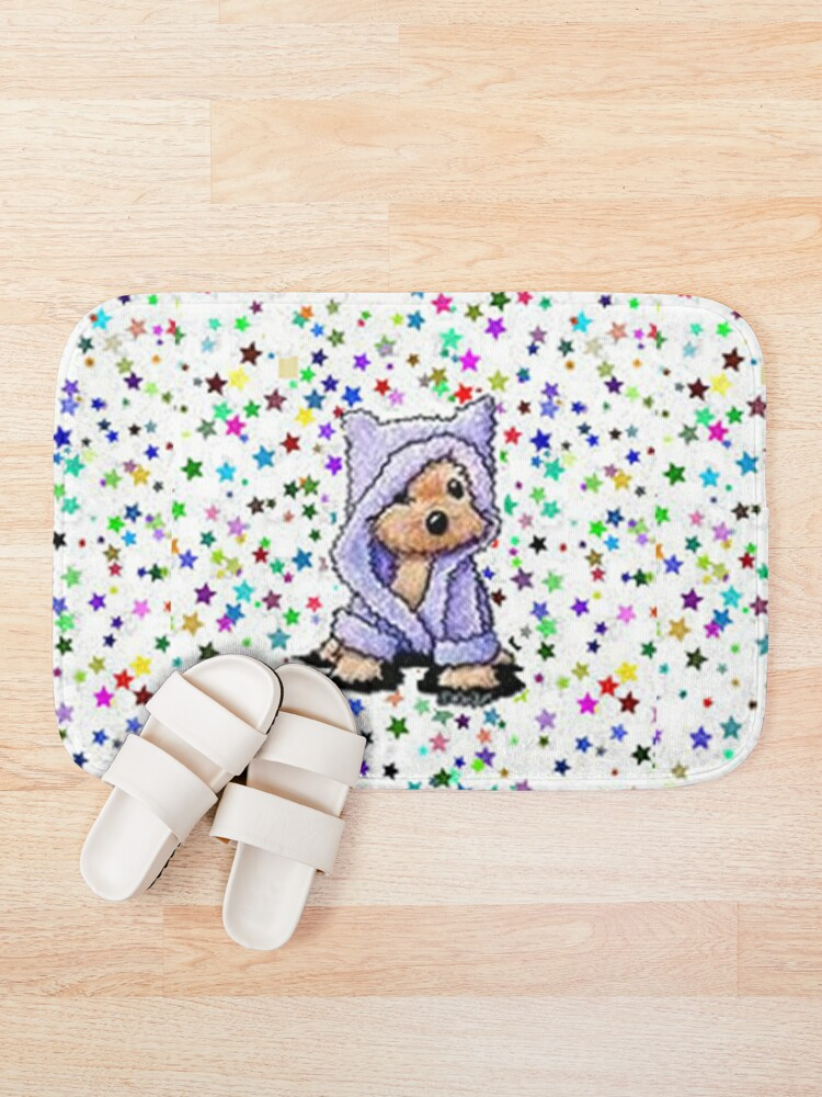 Alternate view of ADORABLE,SWEET,SMALL,YORKIE AMONGST THE STARS Bath Mat