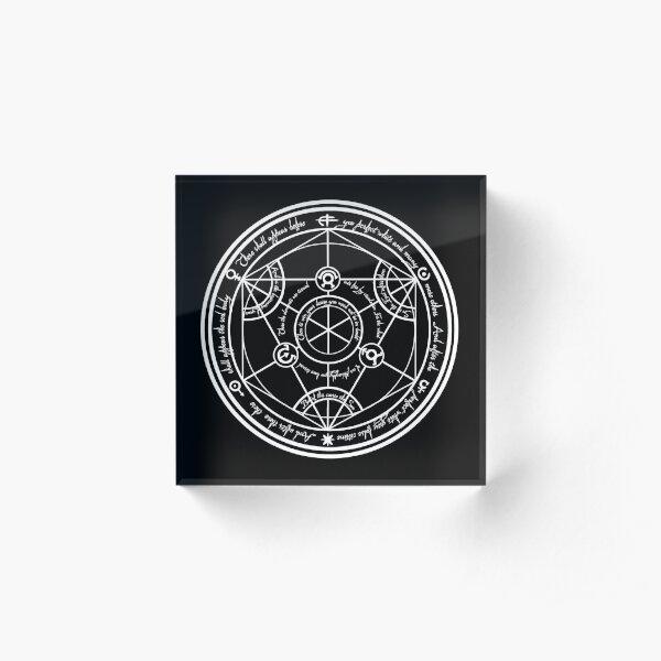 Human Transmutation Circle  Acrylic Block