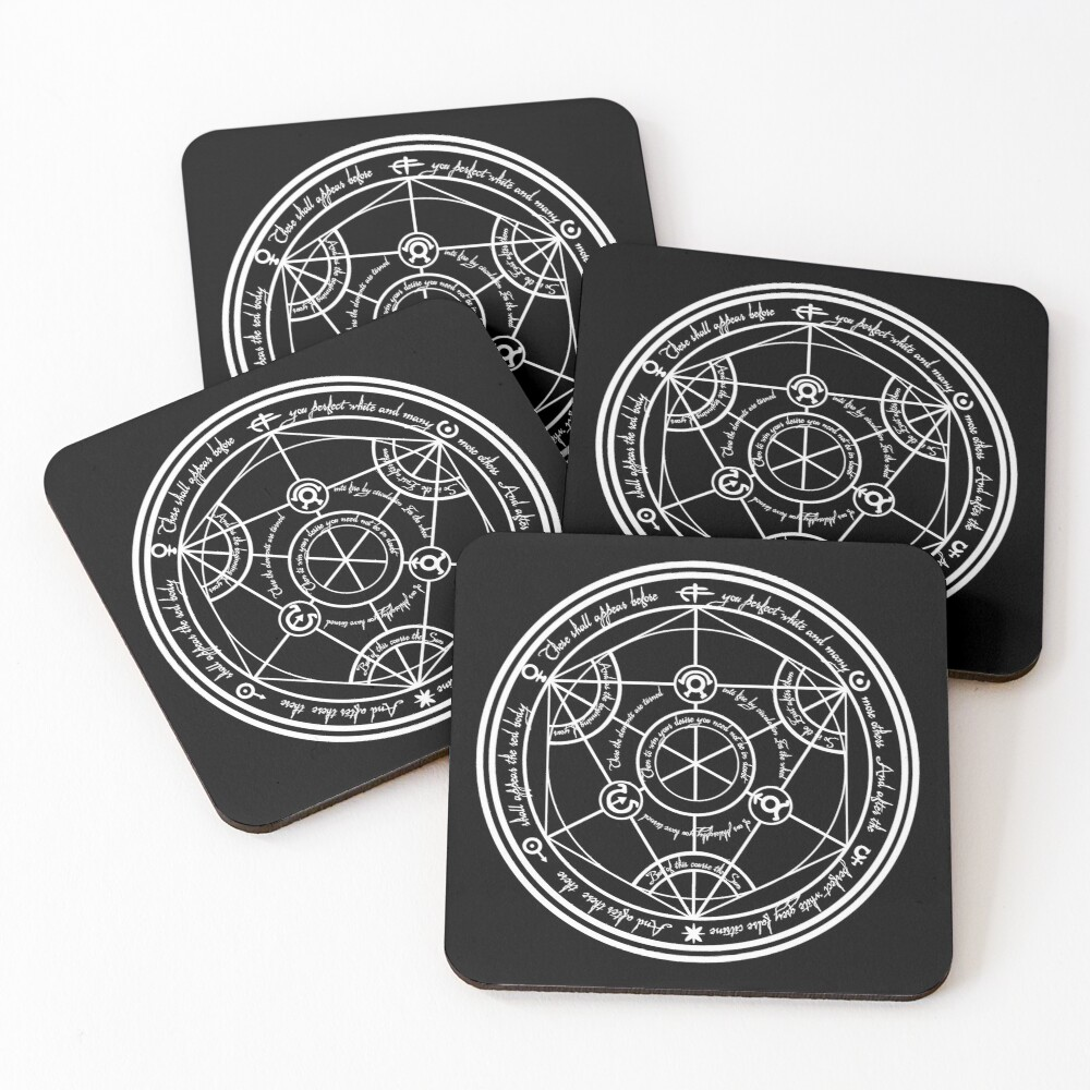 Human Transmutation Circle  Coasters (Set of 4)