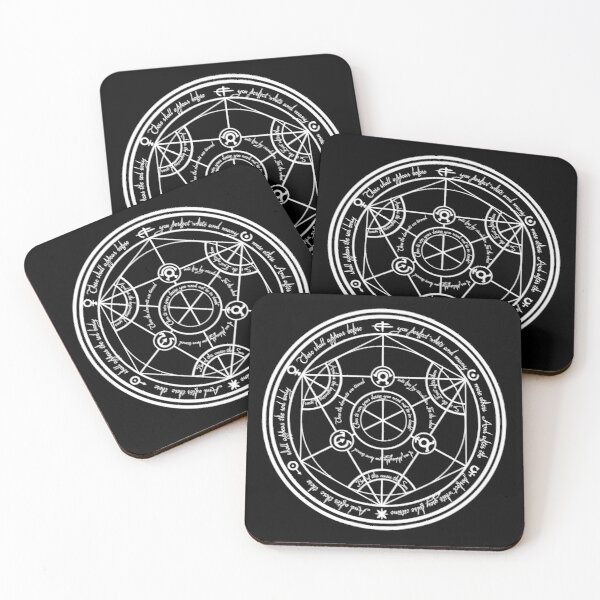 Human Transmutation Circle  Coasters (Set of 4)