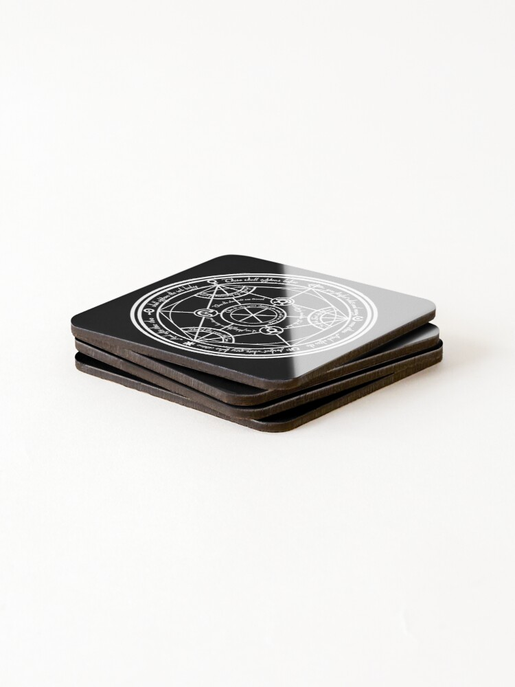 Alternate view of Human Transmutation Circle  Coasters (Set of 4)