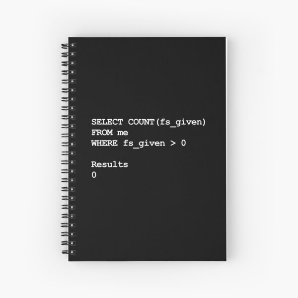 Funny SQL Programming Joke Developer Spiral Notebook