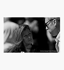 Deep In Conversation Photographic Print