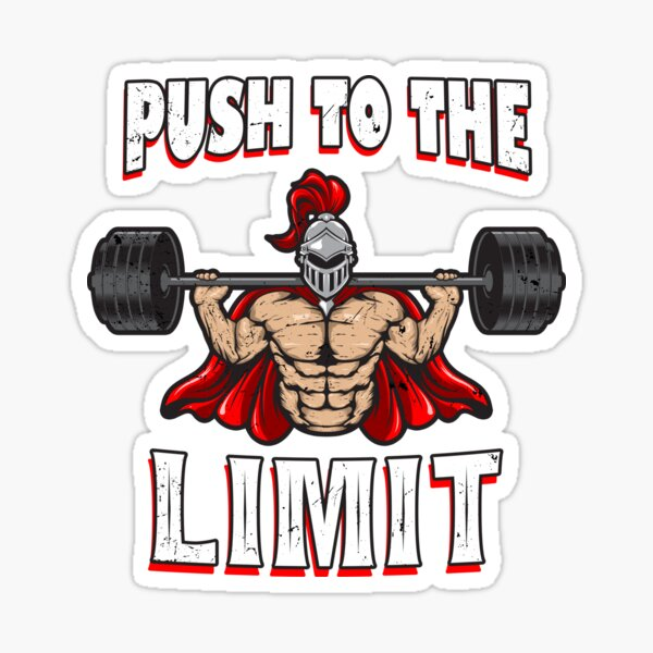Push Your Limits,Barbell,Fitness,Exercise,Crossfit,Weight Lifting,Vinyl Decal
