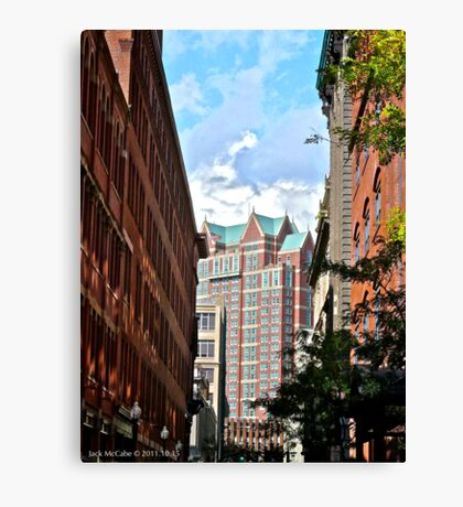The Westin Hotel Viewed from Westminster Street In Providence - Rhode Island Canvas Print