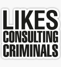SHERLOCK - LIKES CONSULTING CRIMINALS Sticker