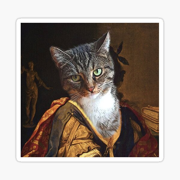 Signora Lucy, seafaring cats Sticker