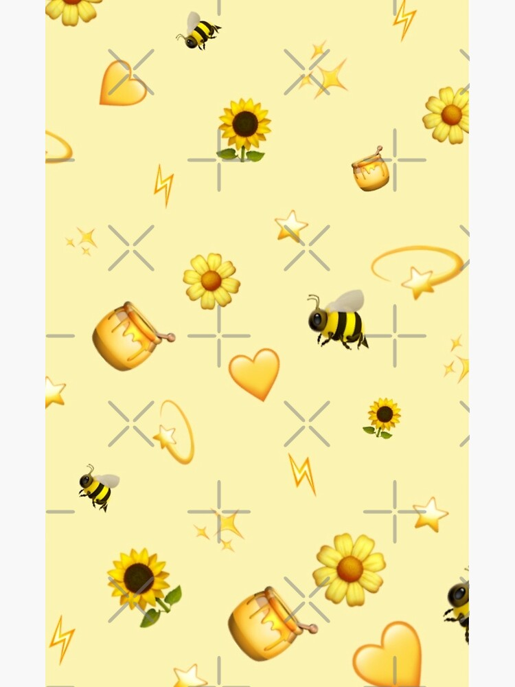 Aesthetic Yellow Background Greeting Card By Sophiakno Redbubble