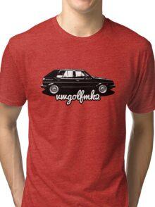 VW Golf Mk2 Appreciation Tri-blend T-Shirt