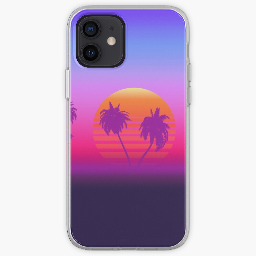 Palm Trees Sunset iPhone Case