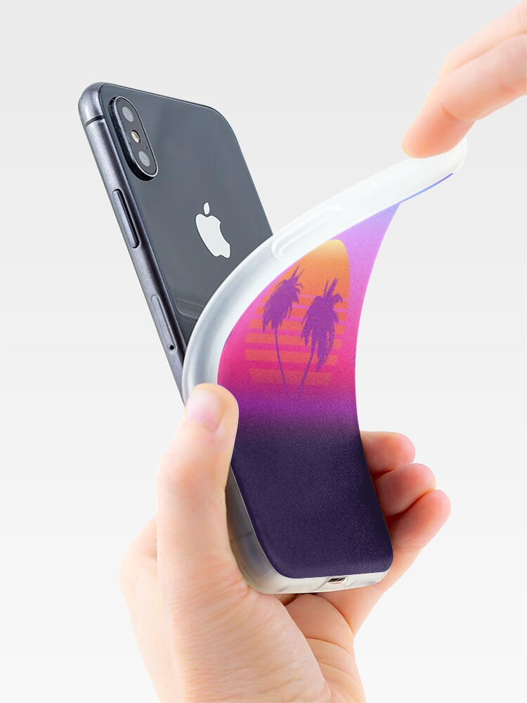 Alternate view of Palm Trees Sunset iPhone Case