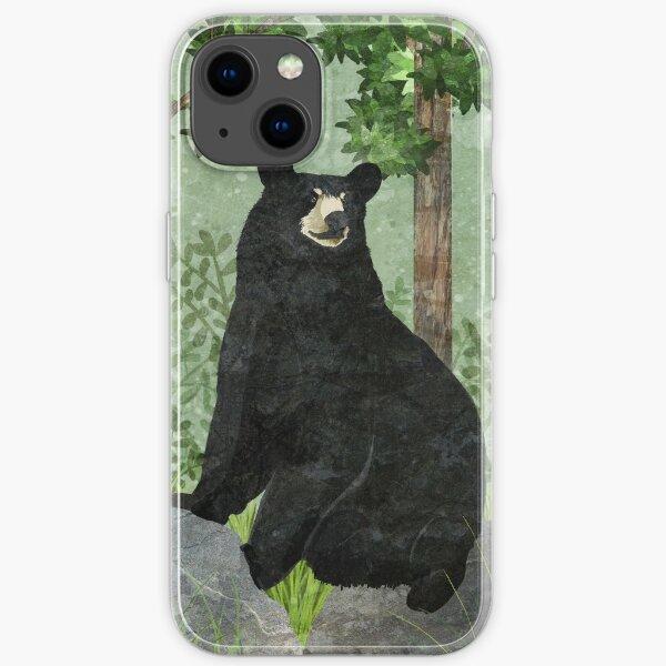 black Bear iPhone Soft Case
