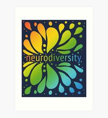 Neurodiversity Splash Art Print