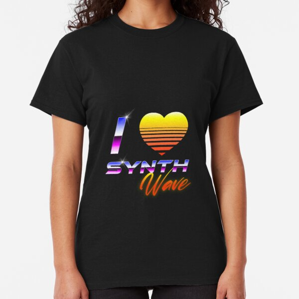 I Love Synthwave Classic T-Shirt