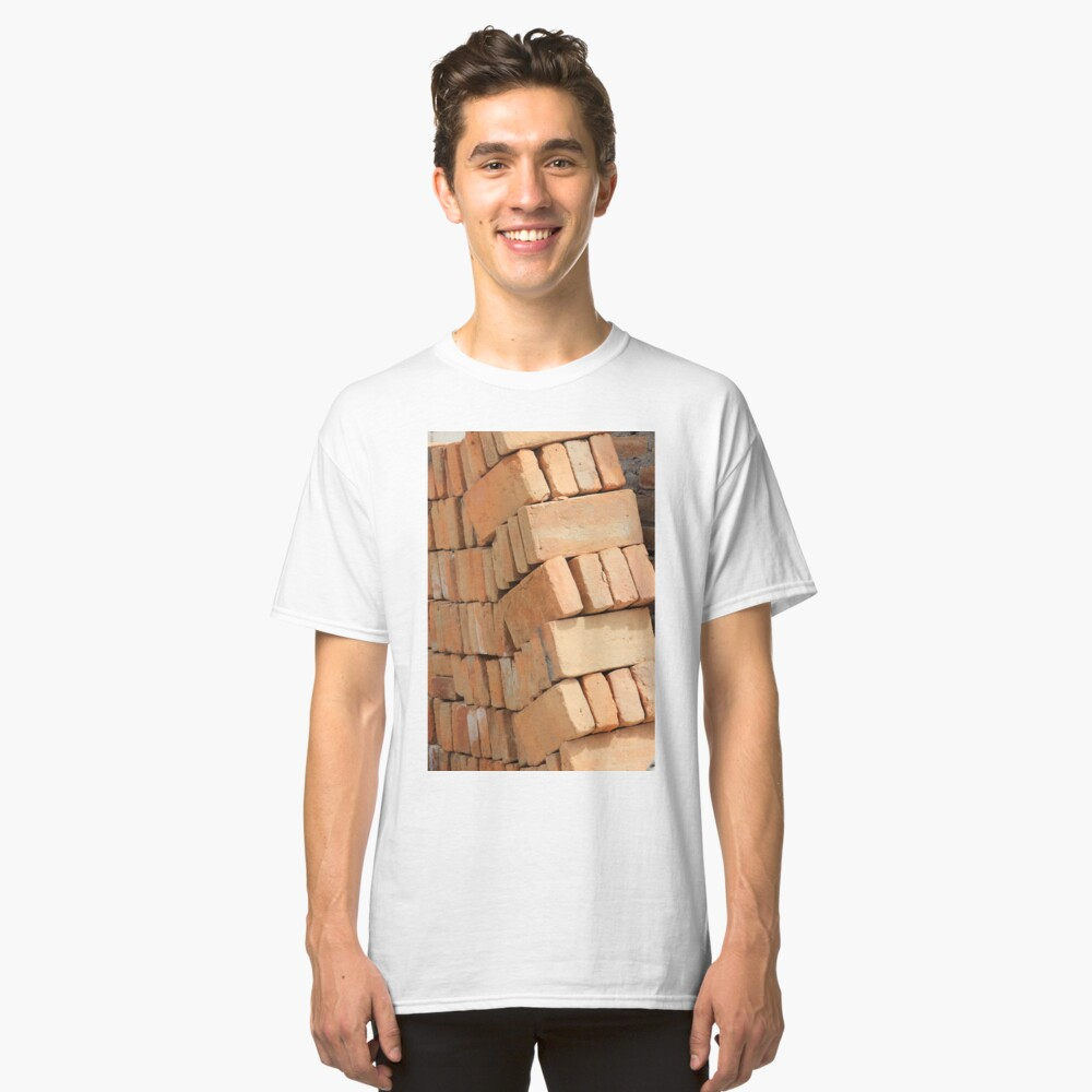 Bricks at a Construction Site Classic T-Shirt Front