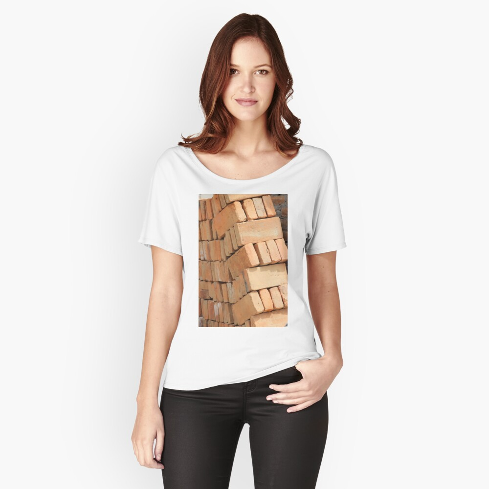 Bricks at a Construction Site Women's Relaxed Fit T-Shirt Front