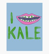 I Heart Kale Photographic Print