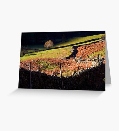 Last Light - Langdale - The Lake District Greeting Card