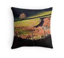 Last Light - Langdale - The Lake District Throw Pillow