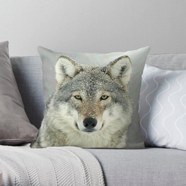 GRAUER WOLF Dekokissen