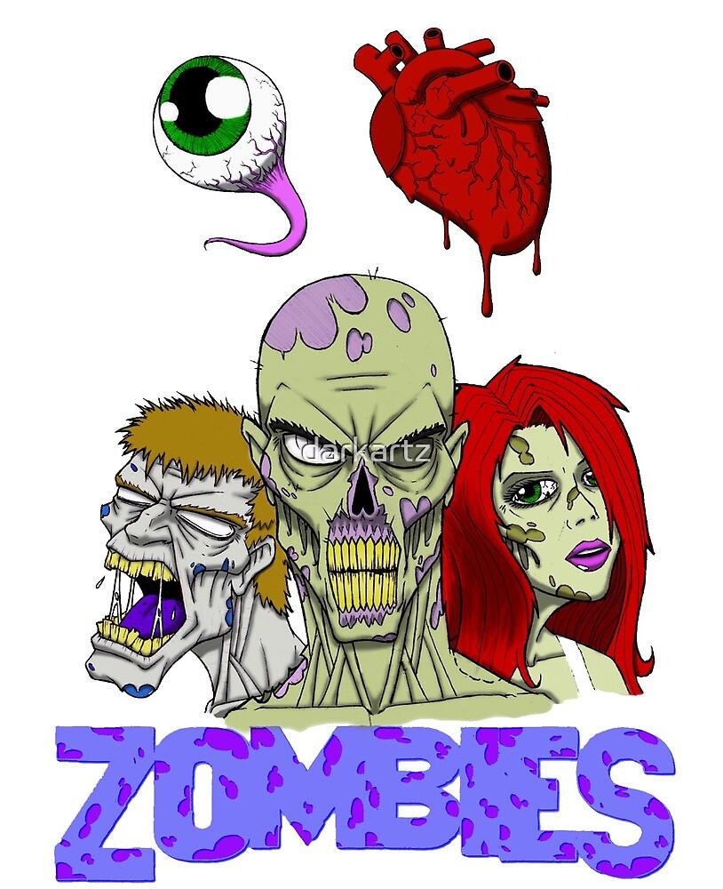 I Love zombies by darkartz