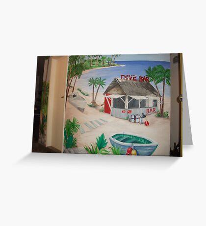 """Mural of Beachside """"Dive Bar"""" Greeting Card"""