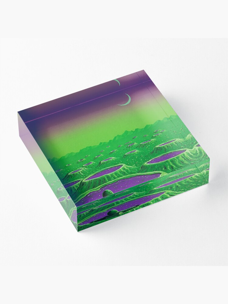 Alternate view of Spa Day Acrylic Block