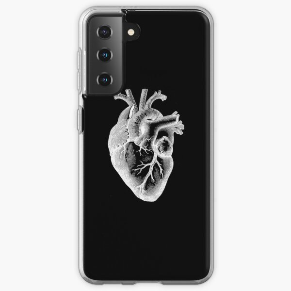 Anatomical Heart - White Outline Samsung Galaxy Soft Case