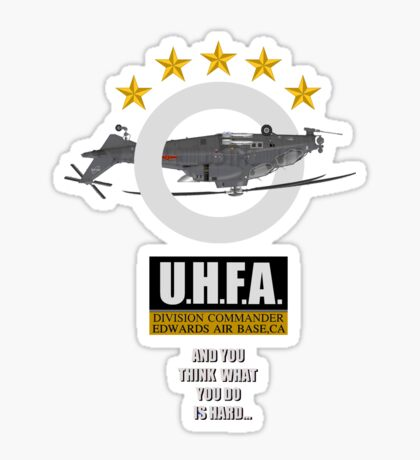 Upside-down Helicopter Flying Association Sticker