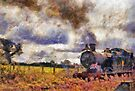 Steam Train at Cranmore station, Shepton Mallet, Somerset, England, UK by David Carton