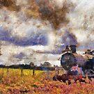 Steam Train at Cranmore station, Shepton Mallet, Somerset, England, UK by David Carton