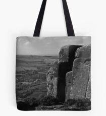 Rocks on Curbar Edge, Derbyshire Tote Bag