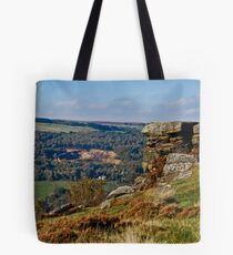 Old Quarry Viewed From Curbar Edge, Derbyshire Tote Bag