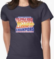 Chicago Cubs World Series Champions - Back to the Future  Women's Fitted T-Shirt