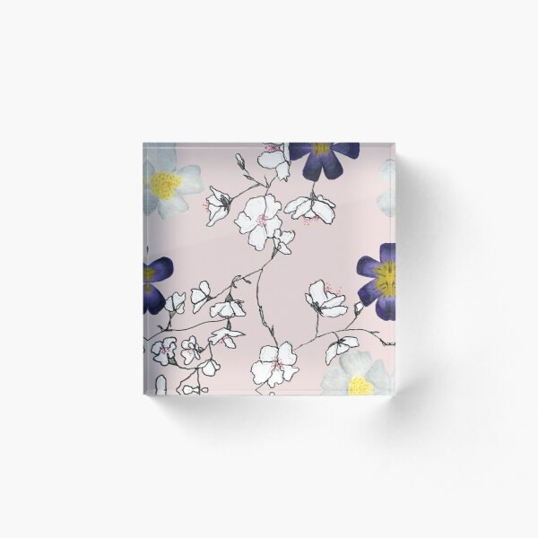 Floral-ly Connected Acrylic Block