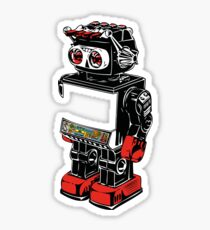 old toy robot Sticker