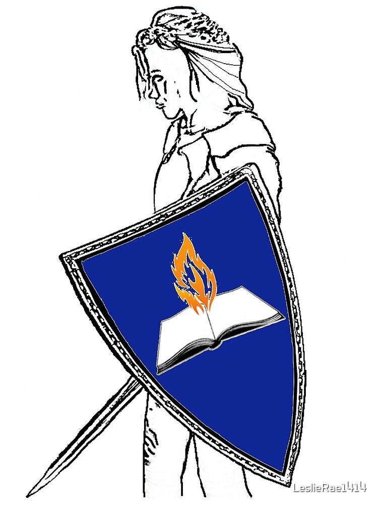 Fan Fiction Warrior - Blue Shield Swag by LeslieRae1414