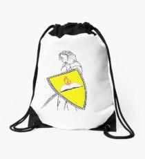 Fan Fiction Warrior - Yellow Shield Swag Drawstring Bag