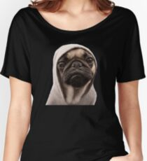 COOL PUG DOG - HIP HOP STYLE Women's Relaxed Fit T-Shirt