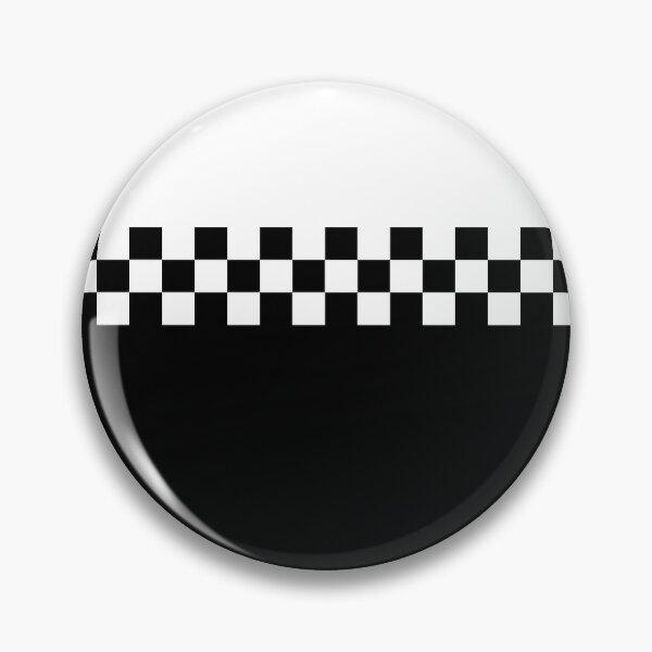 Zweifarbiger Mod Ska 60s Retro Schwarz & Weiß Button
